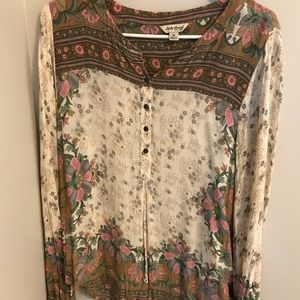 Lucky Floral Peasant Top 🌿